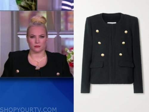 the view, meghan mccain, black button jacket