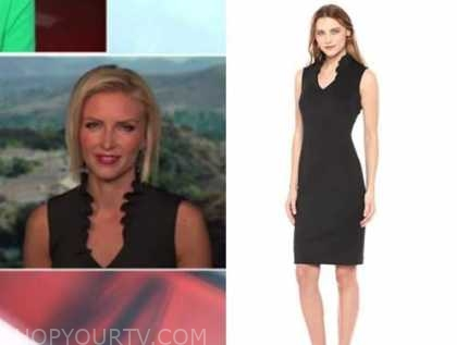 Johanna Maska, outnumbered, black ruffle sheath dress