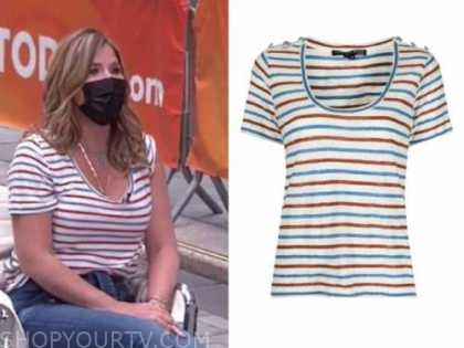 jenna bush hager, the today show, striped tee t-shirt top
