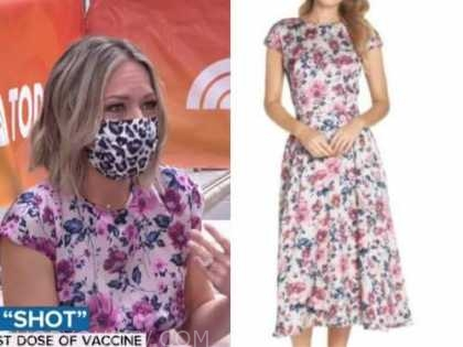 dylan dreyer, the today show, pink floral midi dress