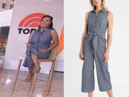 sheinelle jones, the today show, chambray denim jumpsuit