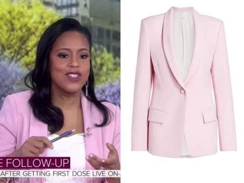sheinelle jones, the today show, lavender pink blazer