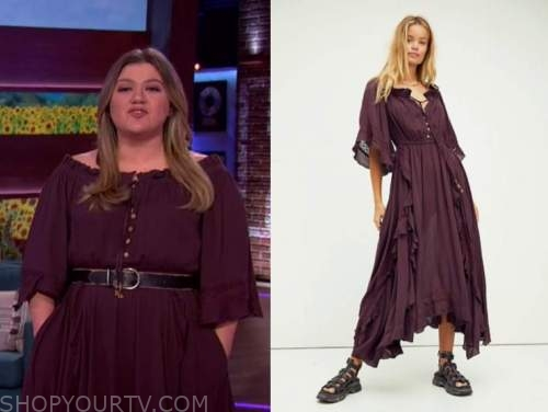 kelly clarkson, the kelly clarkson show, purple maxi dress