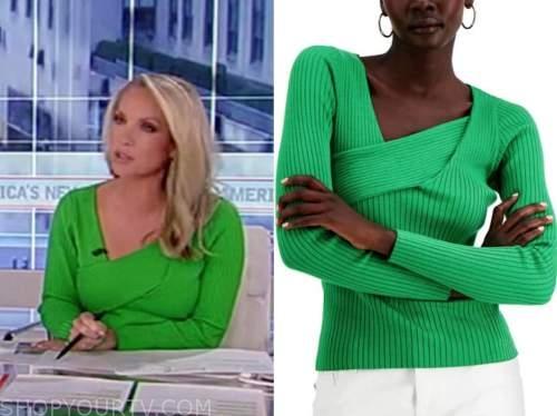 dana perino, green asymmetric knit top, america's newsroom, fox news