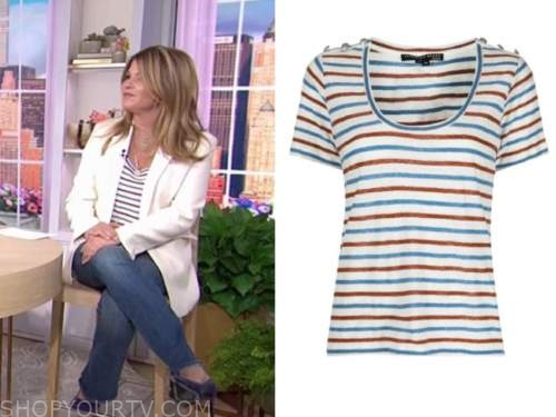 jenna bush hager, the today show, striped top