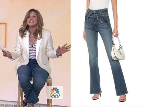 the today show, jenna bush hager, tie waist jeans