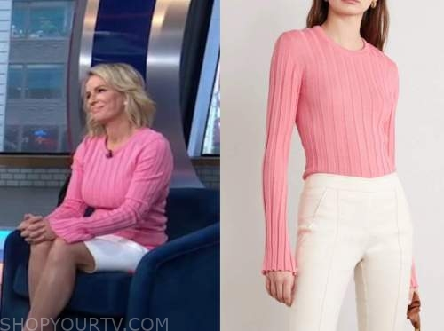 dr. jennifer ashton, good morning america, gma3, pink ribbed knit sweater top