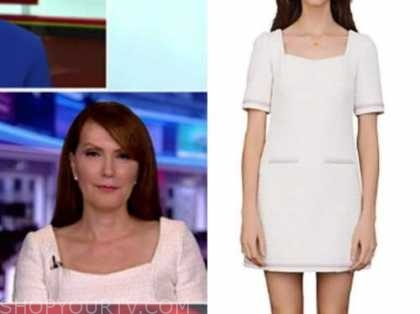 outnumbered, dagen mcdowell, white tweed dress