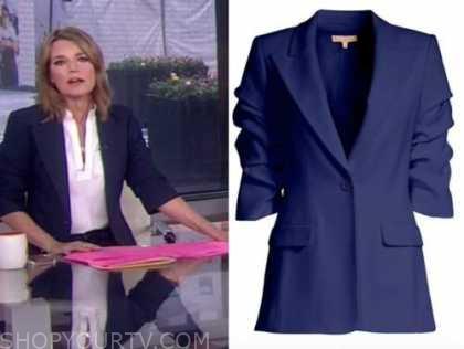 savannah guthrie, the today show, blue blazer