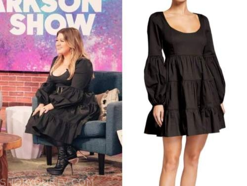 kelly clarkson show, kelly clarkson, black dress