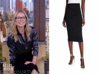 kelly ripa, live with kelly and ryan, black pencil skirt
