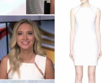 Kayleigh McEnany, white cutout sheath dress, outnumbered