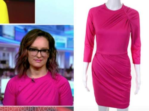 kennedy, fox news, pink ruched dress