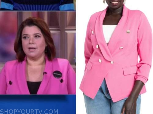 ana navarro, the view, pink double breasted blazer