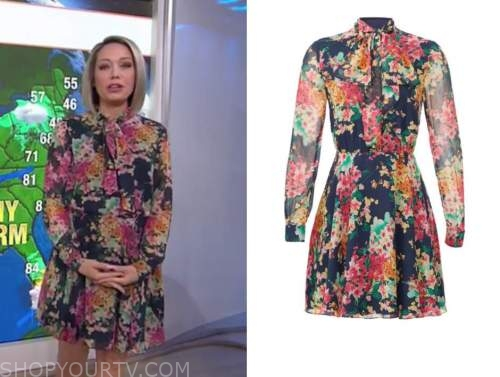 dylan dreyer, the today show, floral tie neck dress