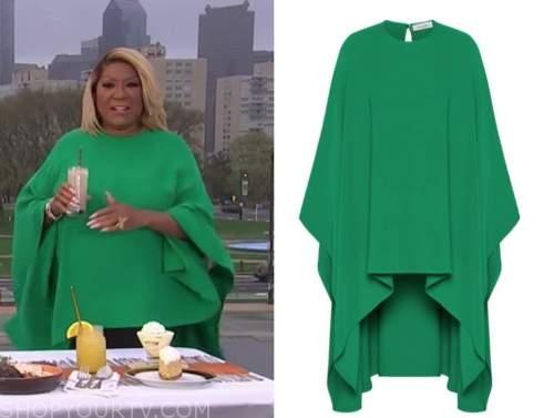 patti labelle, the today show, green cape top