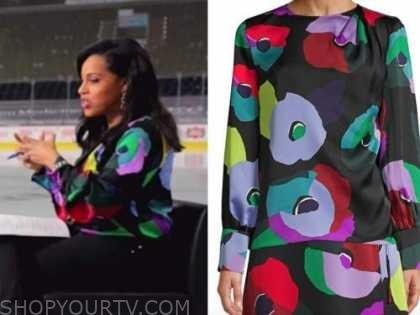 sheinelle jones, the today show, black multicolor floral blouse