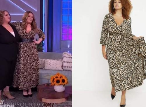 lauren ash, the kelly clarkson show, leopard midi dress