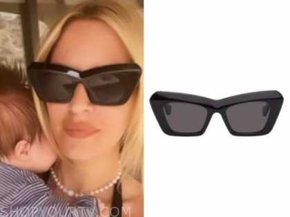 morgan stewart, black sunglasses, instagram fashion