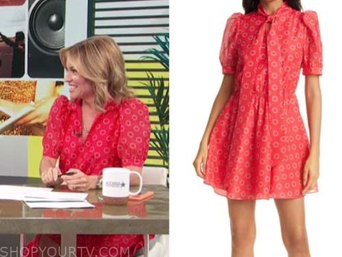 kit hoover, access daily, access hollywood, red dot dress
