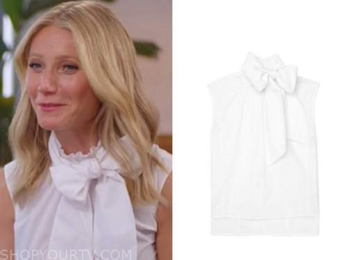 Gwyneth Paltrow, the today show, white tie neck sleeveless top