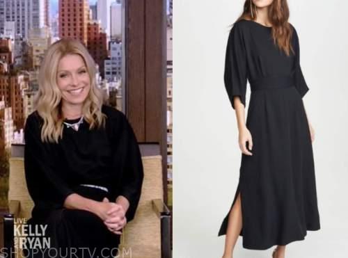 kelly ripa, live with kelly and ryan, black midi dress