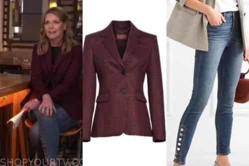 savannah guthrie, the today show, burgundy blazer, button jeans