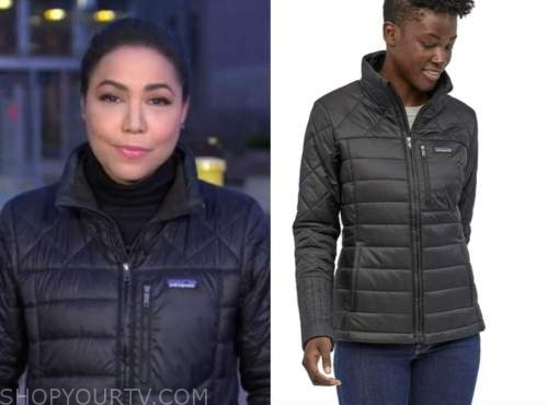 stephanie ramos, good morning america, black quilted jacket