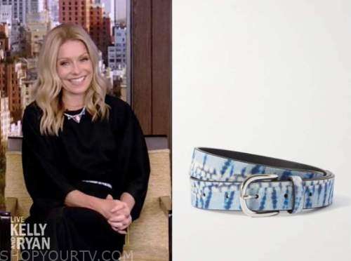 live with kelly and ryan, kelly ripa, blue snakeskin belt
