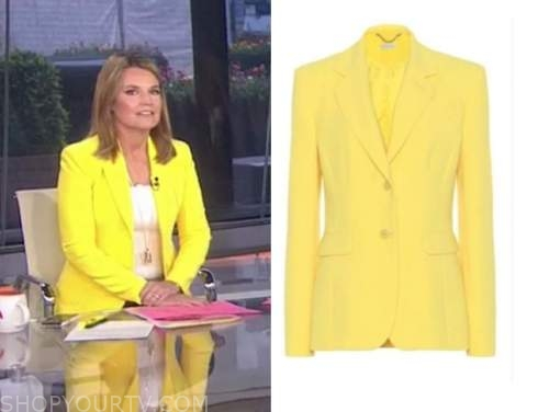 the today show, savannah guthrie, yellow blazer