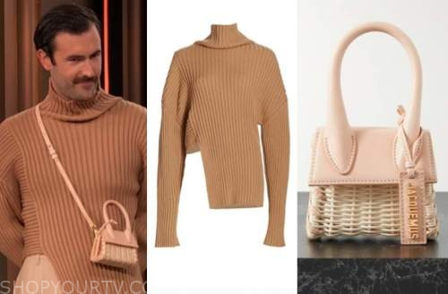 drew barrymore show, young emperors, Nelson Tiberghien, camel turtleneck, wicker bag