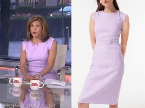 the today show, hoda kotb, purple dress