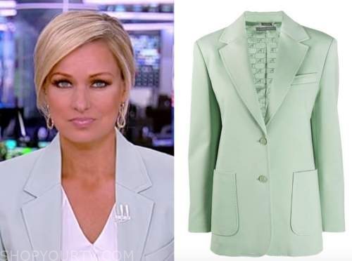 america reports, sandra smith, mint green blazer
