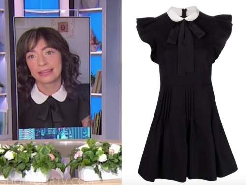 melissa Villaseñor, the today show, black and white collar dress