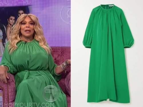 wendy williams, the wendy williams show, green midi dress