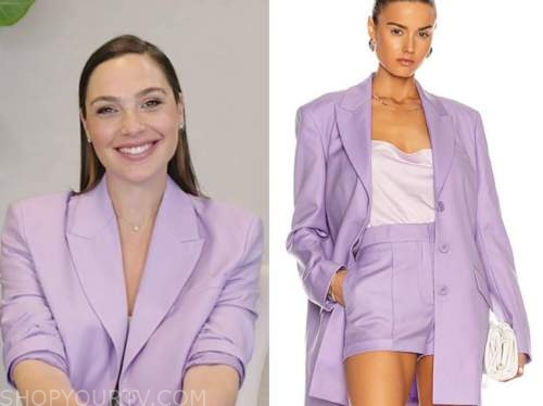 gal gadot, live with kelly and ryan, purple blazer