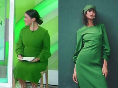 donna farizan, the today show, green midi dress