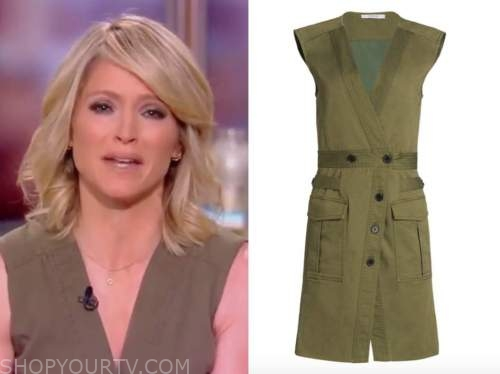 sara haines, the view, green utility dress
