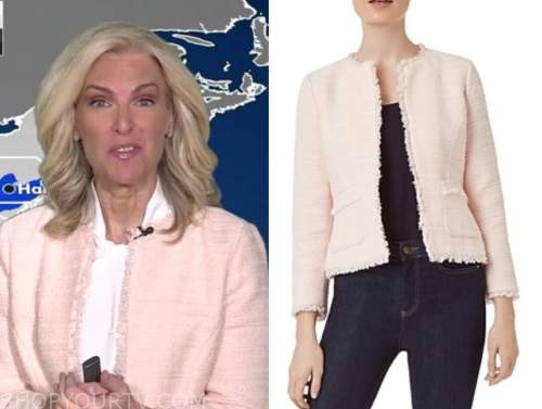 janice dean, fox and friends, blush pink tweed jacket