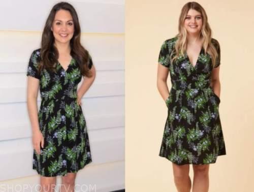 good morning britain, green floral dress, laura tobin