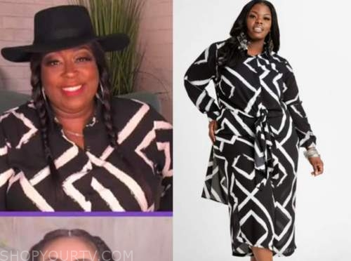 loni love, the real, black and white duster