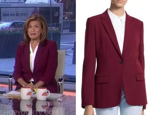 hoda kotb, the today show, burgundy blazer