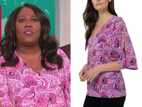 sheryl underwood, the talk, pink paisley top