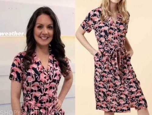 good morning britain, flamingo shirt dress, laura tobin
