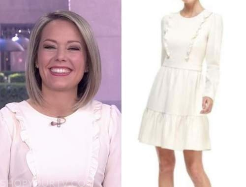dylan dreyer, the today show, ivory ruffle dress