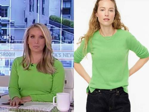 america's newsroom, dana perino, green cashmere sweater
