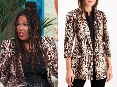 kym whitley, E! news, daily pop, leopard blazer