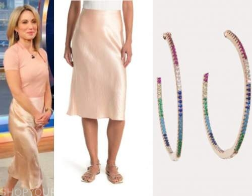 amy robach, pink silk skirt, good morning america, gma3