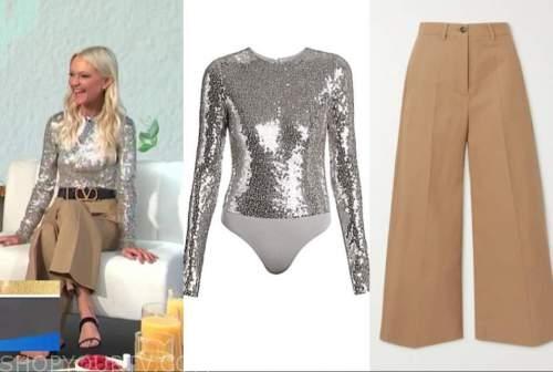 zanna roberts rassi, silver sequin top, beige pants, E! news, daily pop
