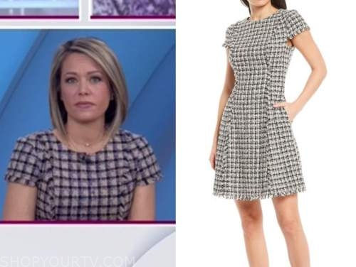 dylan dreyer, the today show, tweed check dress